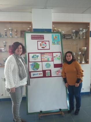 Marina Escobar Jefa de Estudios y Luisa Palomares, coordinadora del Proyecto